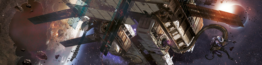 Eclipse Phase, art by Stephan Martiniere