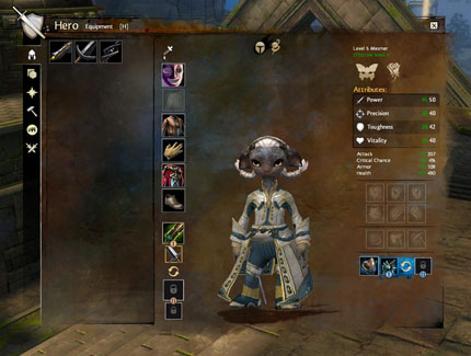 The Hero screen in GW2