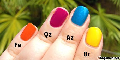 Firefall Manicure: left hand