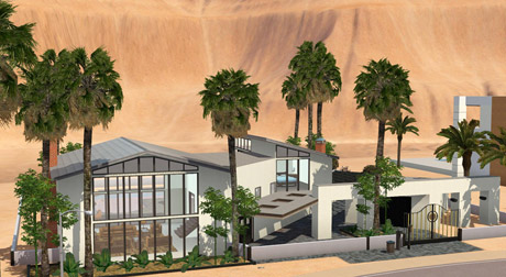 Saskia's stylish pad in Lucky Palms