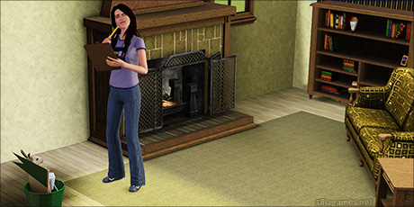 Molly Tanner answers the hard questions! Completing the Sims 3 University Aptitude Test.