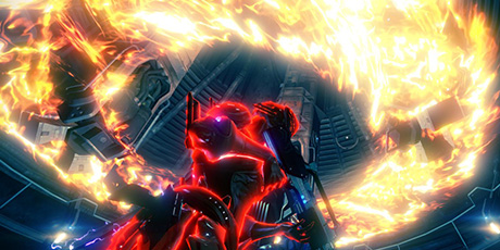Warframe: The Ember frame's Fire Blast ability